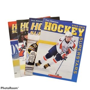 Children's hockey books, NHL Superstars, photos
